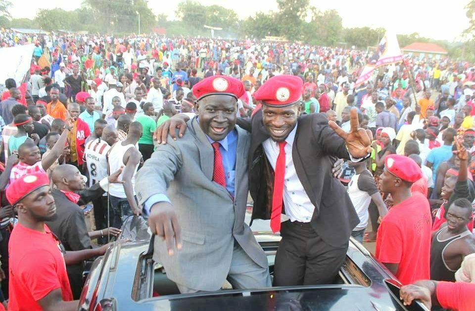 Bobi Wine and Kassiano Wadri campaign in Arua municipality