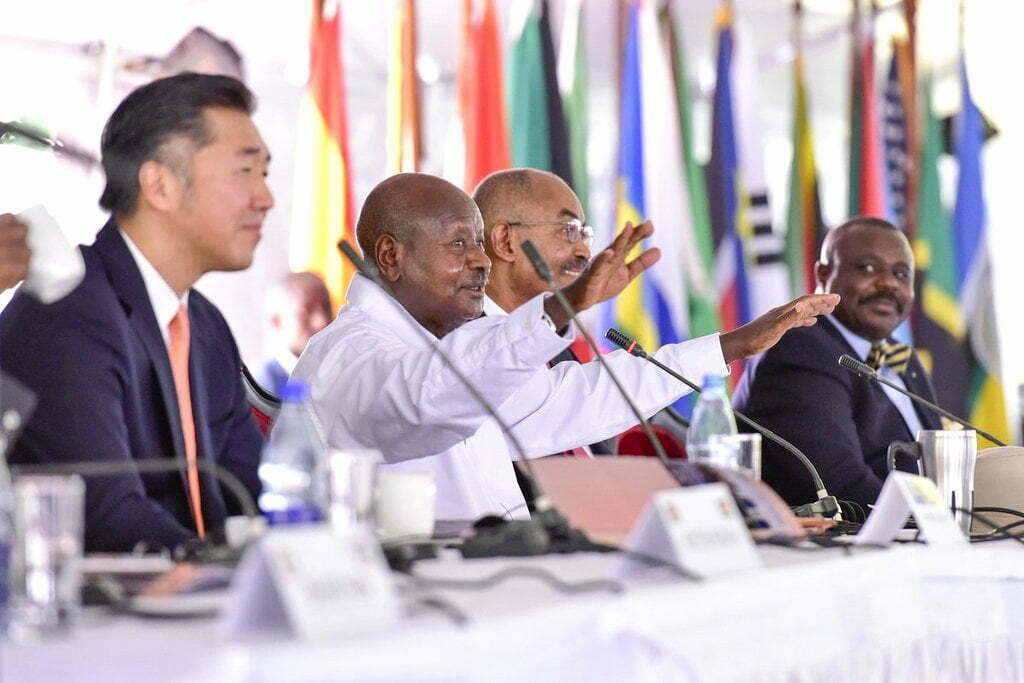 President Yoweri Museveni at the Global Peace Leadership Conference 2018