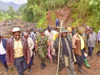 President Museveni visits mudslide areas in Bududa