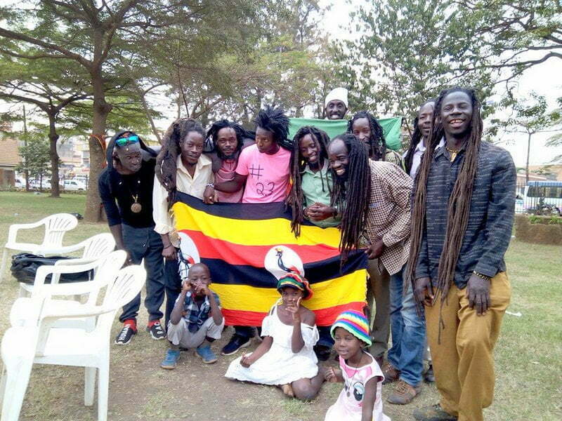 Uganda Rastafarian Movement members in Uganda