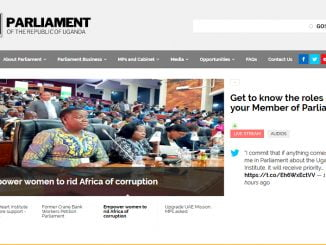Parliament of Uganda website faulty