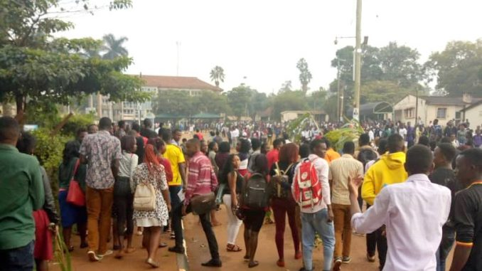Image result for photos of kyambogo protests