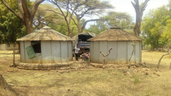 Uganda Police trucks used to transport marble stones in Karamoja