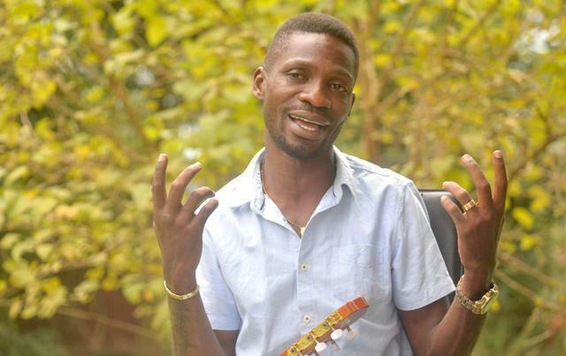 Bobi Wine at his home in Magere