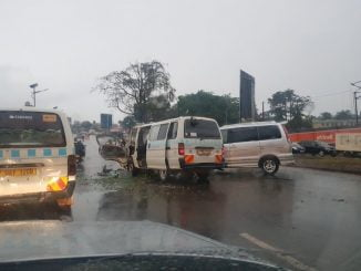 Morning accident paralyses traffic at Lugogo along Kampala-Jinja road