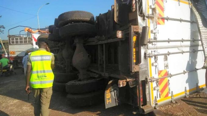 Traffic paralysed in parts of Kampala after train rams into truck