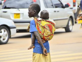 Children still on Kampala streets