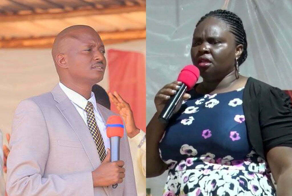 Pastor Aloysius Bugingo and his estranged wife Teddy Naluswa