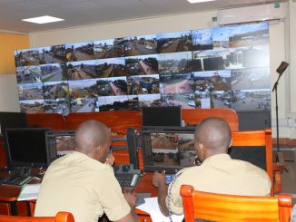 The National Command and Control Center of the CCTV Cameras at Nateete Police Station aimed to beef up security surveillance within Kampala