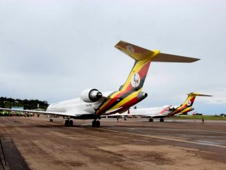 Uganda Airlines planes take a Nairobi route flight test