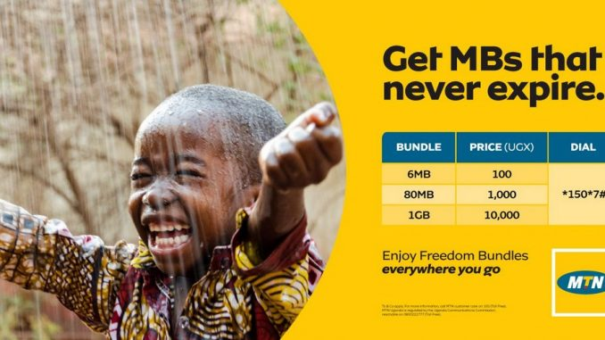 MTN Uganda announces data bundles that don't expire