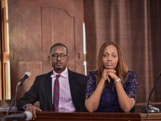 Mathew Kanyamunyu and Cynthia Munwangari while appearing before High Court